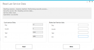 Mclaren scan tool Read/Write/Reset service intervals