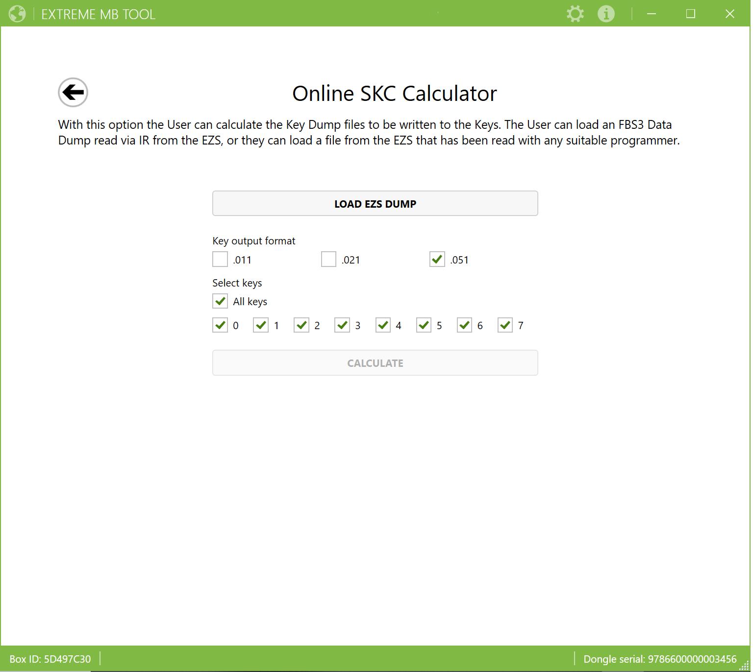 Online SKC Calculator