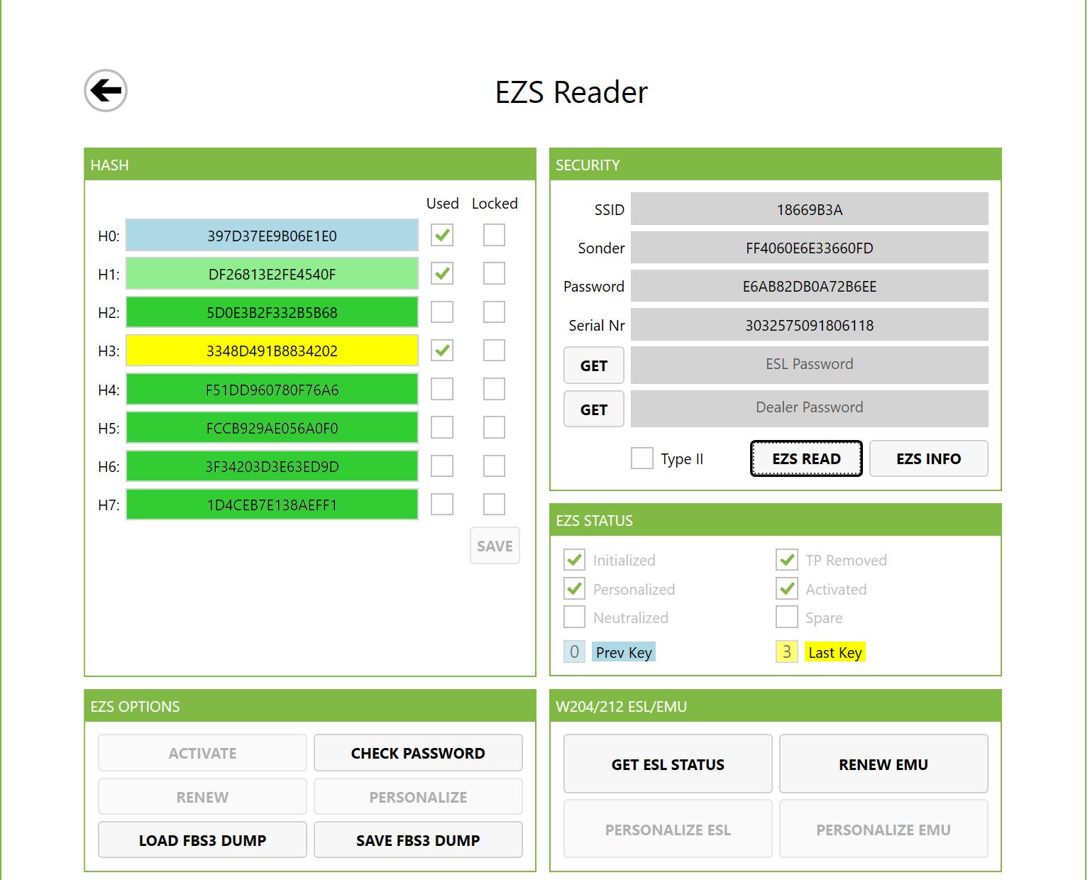EZS Reader - Extreme Mercedes-Benz tool