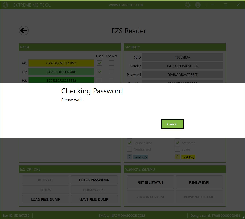 EZS Reader - Checking password
